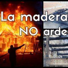 La madera NO arde