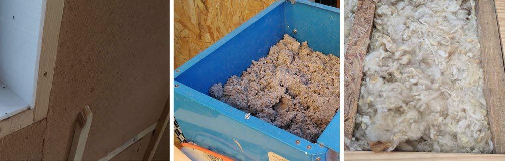 Aislamientos térmicos naturales de: fibra de madera, celulosa y lana de oveja